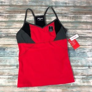 Xersion Performance Wear Red Fitted Tank Top Sz M